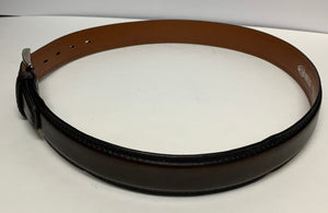 Suitor Mantellassi Men's Belt  Dark Brown Belt Handmade In Italy Size 34 Preowned Like New Condition $125