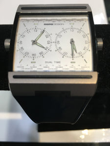 Momo Design Dual Time Titanium Watch Black Band. Preowned. $595