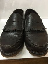 Load image into Gallery viewer, Salvatore Ferragamo Men's Shoes. Brown Pebble Grain Kiltie Penny Loafer 12 D Hardly Worn $185