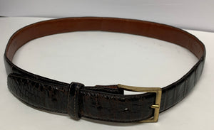 Genuine American Alligator Men's Belt. Size 36. Dark Brown. Rare Exotic Skin. Preowned Excellent Condition $199