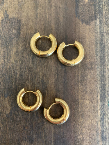 thick gold hoops