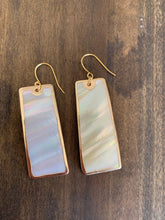 Load image into Gallery viewer, large rectangle shell earrings