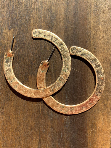 large hammered go-go hoops