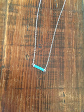 Load image into Gallery viewer, tiny turquoise bar necklace