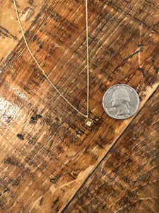 tiny north star pendant necklace