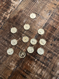 astrological coin necklace