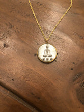 Load image into Gallery viewer, buddha coin pendant necklace