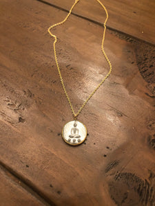 buddha coin pendant necklace