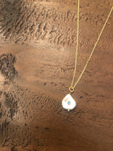 Load image into Gallery viewer, baroque pearl with turquoise stone pendant necklace