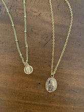 Load image into Gallery viewer, small mary coin necklace