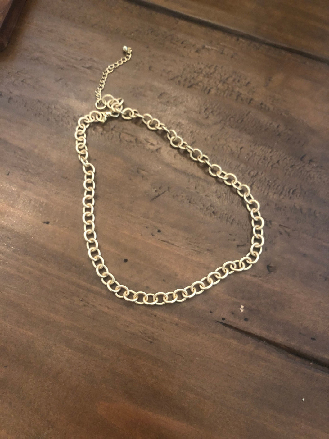 gold rolo chain choker/necklace