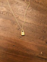 Load image into Gallery viewer, padlock pendant necklace