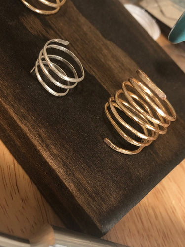 hammered ring. boho rings