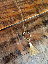 Load image into Gallery viewer, small tassel pendant necklace