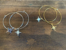 Load image into Gallery viewer, starburst hoop earrings