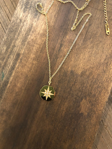 large north star pendant necklace