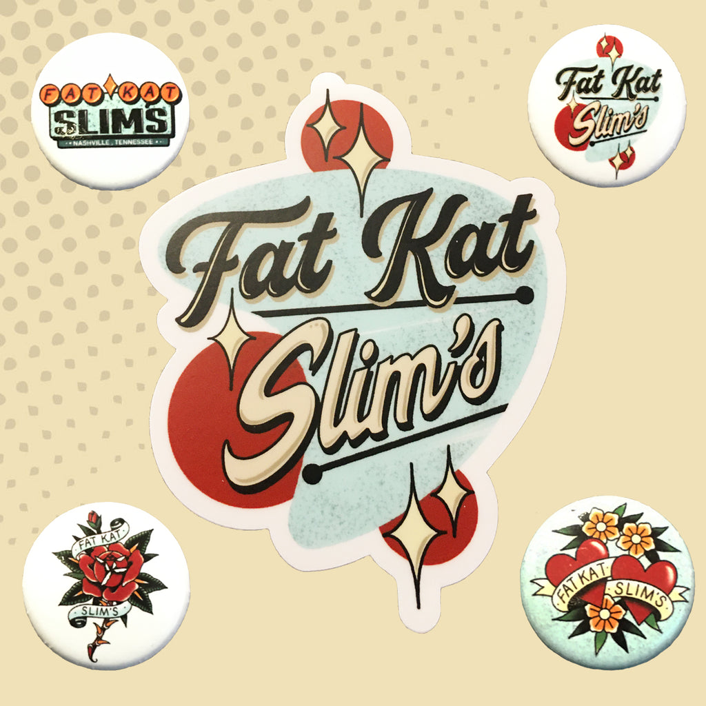 Fat Kat Slim's Button Set