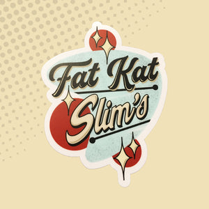 Fat Kat Slim's Logo Sticker