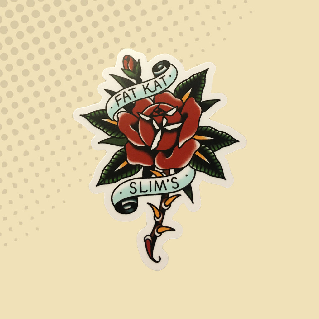 Fat Kat Slim's Rose Flash Sticker