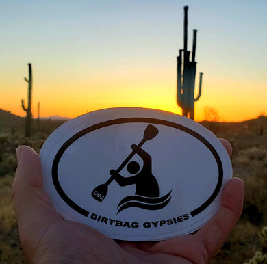 Dirtbag Gypsies Kayaker Oval Sticker