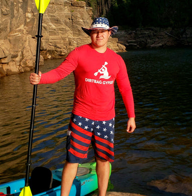 Red Long Sleeve Kayaker Shirt