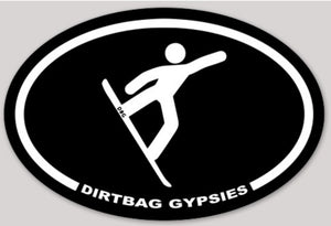 Dirtbag Gypsies Snowboarder Sticker