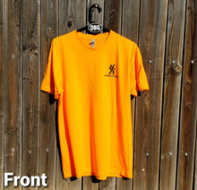 Load image into Gallery viewer, DO EPIC SHIT!! Orange DirtBag Gypsies Short Sleeve Shirt with Black logo