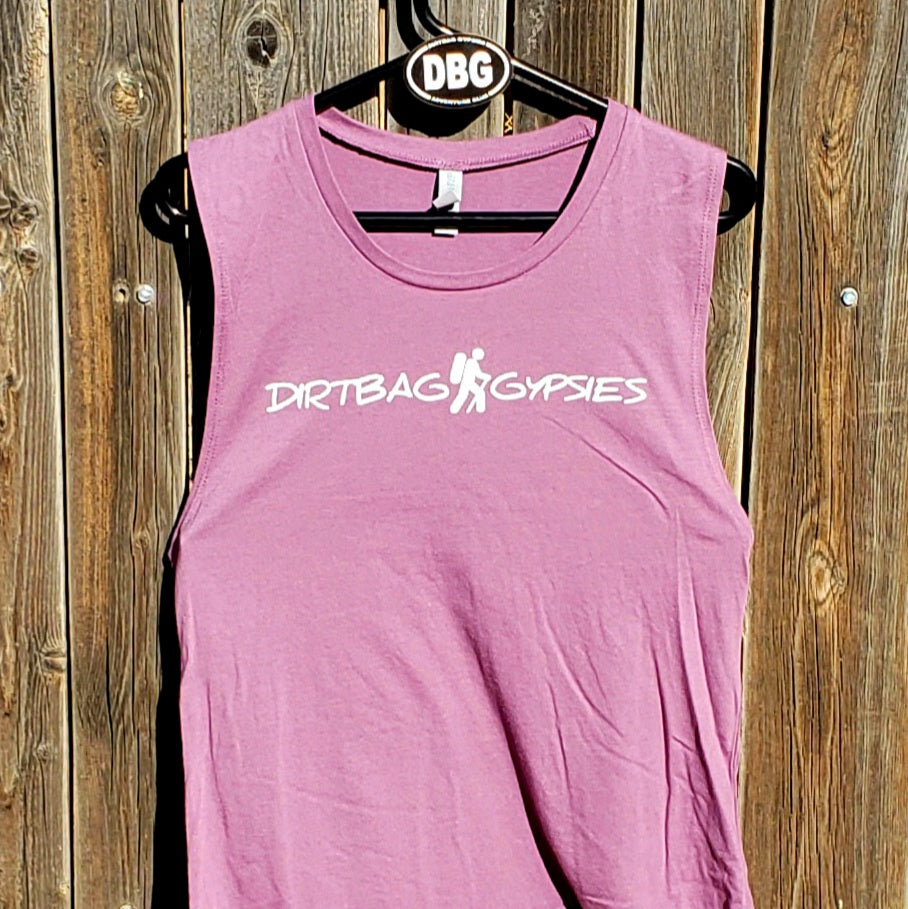 Shiraz Hiker Ladies Muscle Tank Top Black Logo smaller