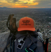 Load image into Gallery viewer, DO EPIC SHIT!!  Rustic Orange/Khaki DirtBag Gypsies Snap Back Hat with Black