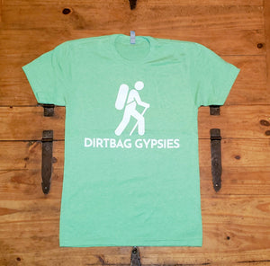 Apple Green DirtBag Gypsies Short Sleeve Shirt with White logo