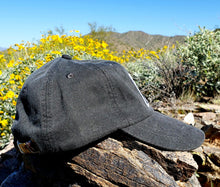 Load image into Gallery viewer, Black Dirtbag Gypsies Patched Hat! Adams Optimum Solid Pigment Dyed Hat.