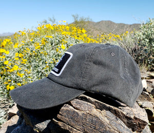 Black Dirtbag Gypsies Patched Hat! Adams Optimum Solid Pigment Dyed Hat.