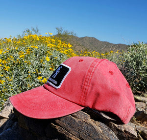 Red Dirtbag Gypsies Patched Hat! Adams Optimum Solid Pigment Dyed Hat.