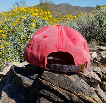 Load image into Gallery viewer, Red Dirtbag Gypsies Patched Hat! Adams Optimum Solid Pigment Dyed Hat.