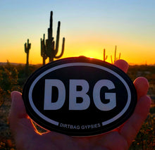 Load image into Gallery viewer, DBG Black Oval Sticker