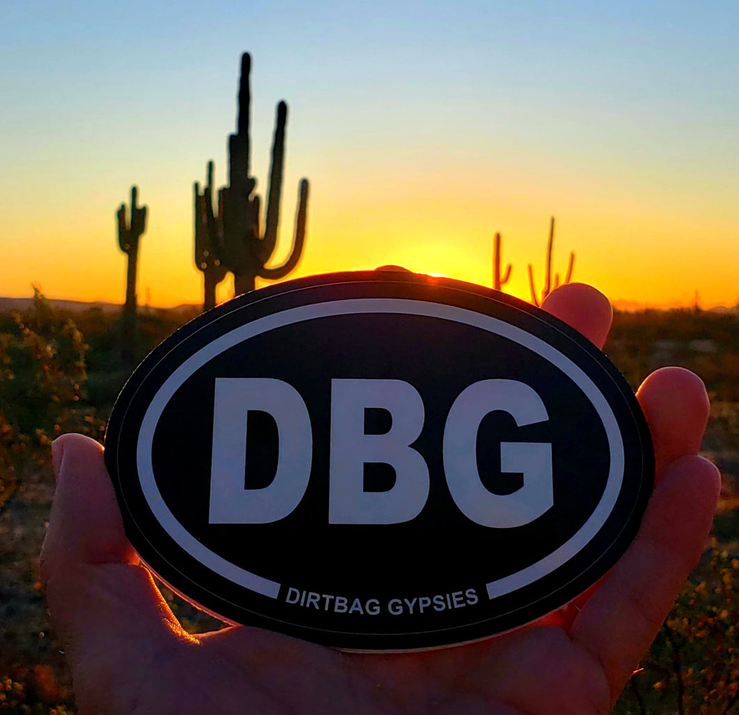 DBG Black Oval Sticker