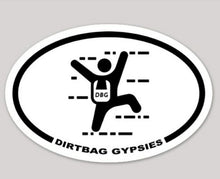 Load image into Gallery viewer, Dirtbag Gypsies Rock Climber White Oval
