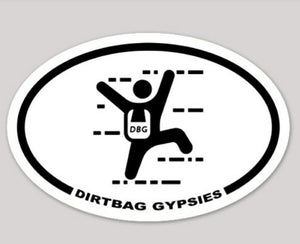 Dirtbag Gypsies Rock Climber White Oval