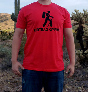 Red DirtBag Gypsies Short Sleeve Shirt with Black logo