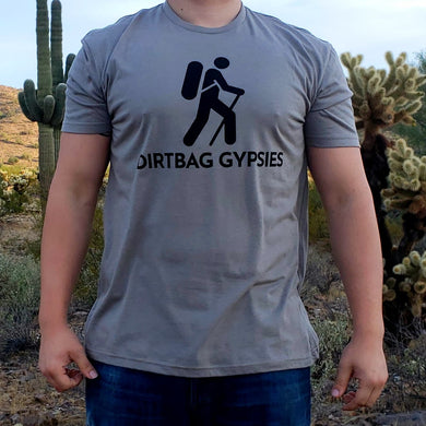 Stone Gray DirtBag Gypsies Short Sleeve Shirt with Black logo