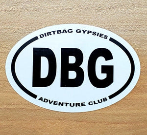 DBG  Adventure Club Tumbler Sticker