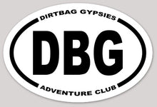 Load image into Gallery viewer, DBG Adventure Club Tumbler Sticker White with Black letters