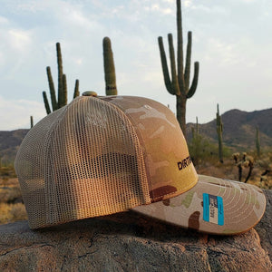 Multicam/Arid tan Embroidered Classic Trucker