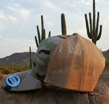 Load image into Gallery viewer, Multicam/Arid tan Embroidered Classic Trucker