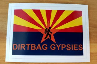 Dirtbag Gypsies Arizona Tumbler Rectangle Sticker