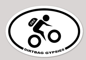 Dirtbag Gypsies Biker Oval Sticker