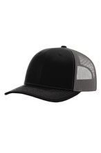 Load image into Gallery viewer, Black/Gray DirtBag Gypsies Snap Back Hat with Neon Pink Logo