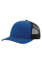 Load image into Gallery viewer, Blue/Black DirtBag Gypsies Snap Back Hat with Black Logo