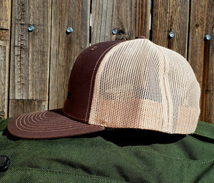 Brown/Khaki DirtBag Gypsies Snap Back Hat with Black logo