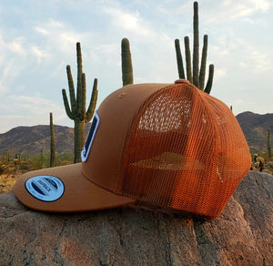 Copper Trucker Patched Hat